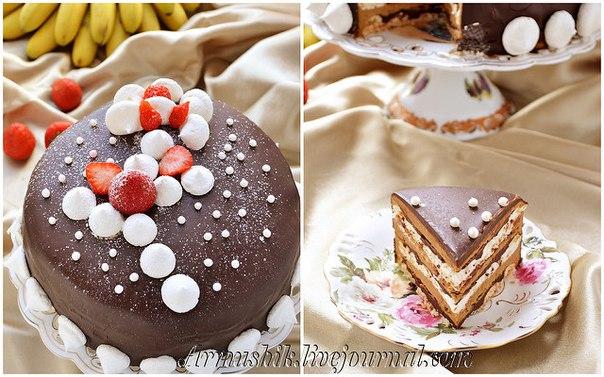 "Торт-безе ""Кофе и шоколад"""