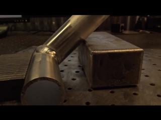 Tig сварка алюминия, обрезка конца трубы