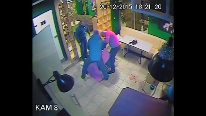 Драка в ресторане. Украина