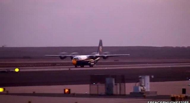 Ludicrous Spaceballers C-130 Jet Run