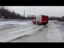 Чеські та польські пожежні авто на полігоні в Остраві.