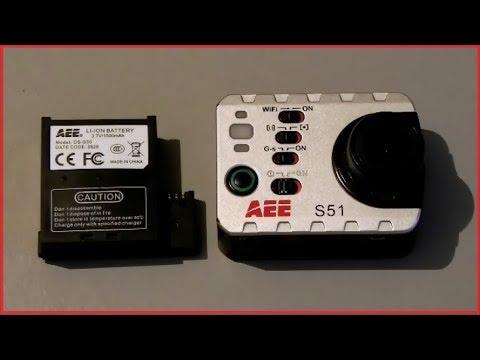 Экшнкамера AEE S51. Дополнительный аккумулятор. Распаковка.