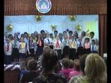 Юбилейный концерт в 122 школе. Хор учителей и учеников. Финальная песня.