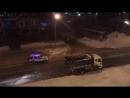 Погоня за угнанным автомобилем в Южно-Сахалинске.