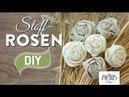 DIY Deko Rosen aus Stoff im Shabby Chic Stil Deko Kitchen