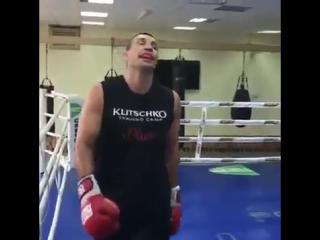 Первая тренировка Кличко после завершения карьеры