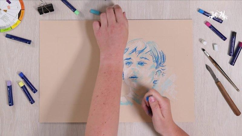 Пастель масляная Faber-Castell Creative Studio 12 цветов