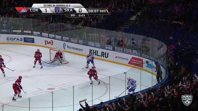 Моменты из матчей КХЛ сезона 17/18 • Гол. 1:1. Никита Гусев (СКА) восстановил равенство в счёте 27.03