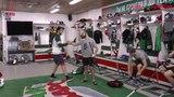 Видео с утренней раскатки команды перед вторым матчем с