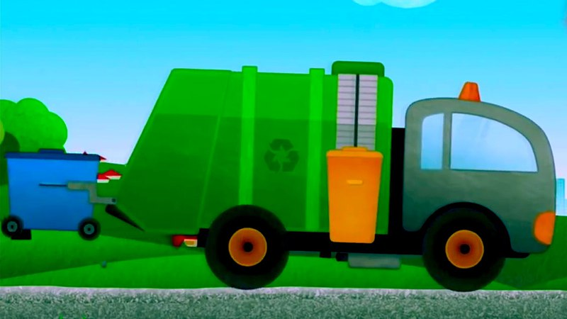 Tipos de vehículos - Camión de basura - Camión de Bomberos - Coche de policía