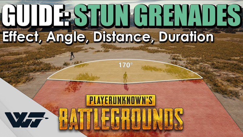 GUIDE How do STUN GRENADES work in PUBG Effect Angle Distance Duration
