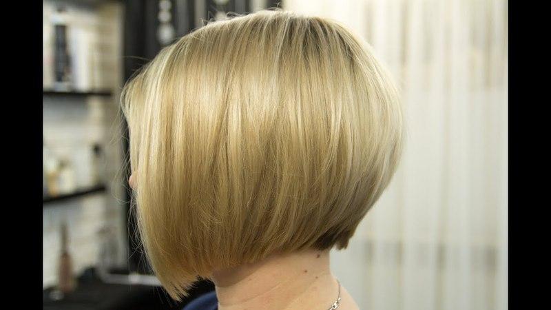 Градуированный Боб. Короткая женская стрижка 2018 Bob Short women Haircut. Fashion Haircut 2018