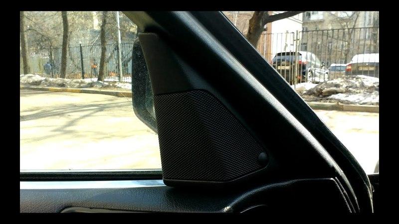 БМВ Е34 Ремонт высокочастотного динамика (пищалки) в двери BMW E34