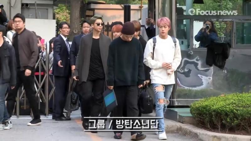 출근하는 방탄소년단(BTS) 아침부터 심쿵주의보_ [20161014 뮤뱅출근길 풀영상]