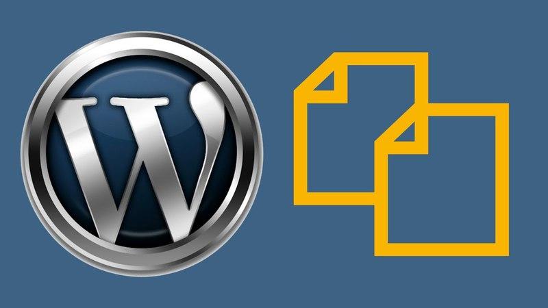 Клонирование записей, страниц в WordPress