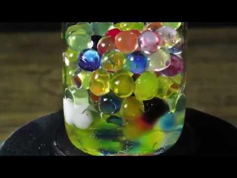 Гидрогель красивый таймлапс orbeez hydrogel timelapse
