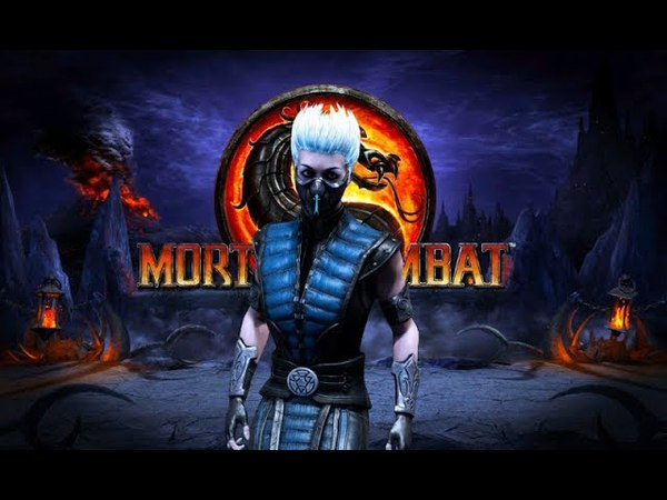 Mortal Kombat Komplete Edition (PC) - MKX Frost skin mod Gameplay (download link)