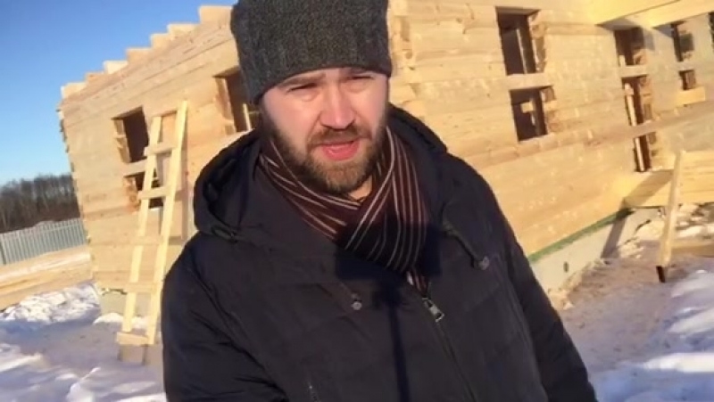 Видео-отчёт со строительного объекта - брусовой дом в дер.Спасс.