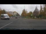 Пересечение улиц Коваленко-Воинова. Резкий как пуля дерзкий водитель, маршрутки.