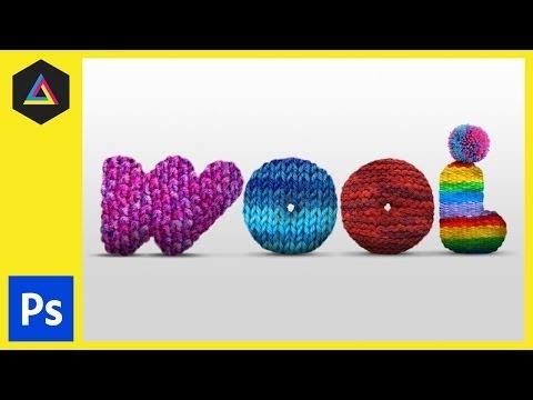 Wool Type Effect | Adobe Photoshop Tutorial