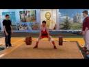 Канафин Нургиз тяга 177.5 кг при весе 58.800. возраст 18 лет