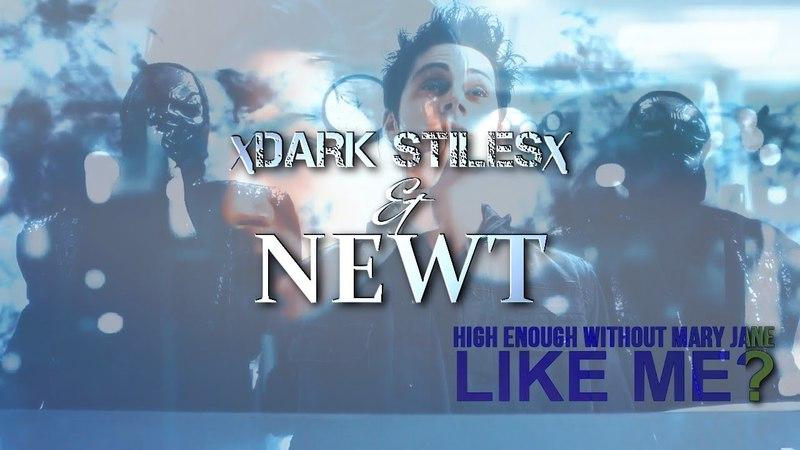 Dark!Stiles ☽ x Newt ● g a s o l i n e {au}