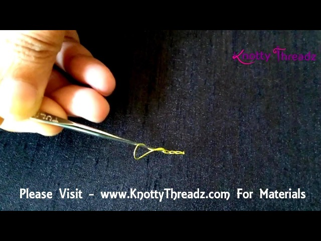 How to End Chain Stitch in Aari Work | 3 Different Ways of Knotting in Aari | www.knottythreadz.com