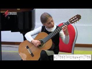 Ferdinando Carulli: Siciliana op. 241, br. 42 - Nika Kovačić, gitara / Bistrički ZVUKOLIK 2014.