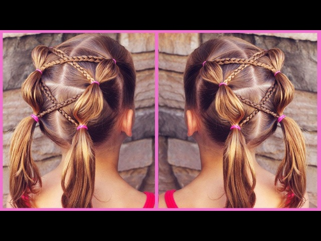 Little Sis' FAVORITE Hairstyle | Bubble Braids with Accent Braids | Toddler Hairstyle