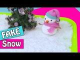 DIY Christmas crafts: How to make FAKE SNOW - Innova Crafts