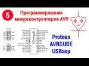 Симуляция и прошивка программы | Proteus | AVRDUDE | USBasp