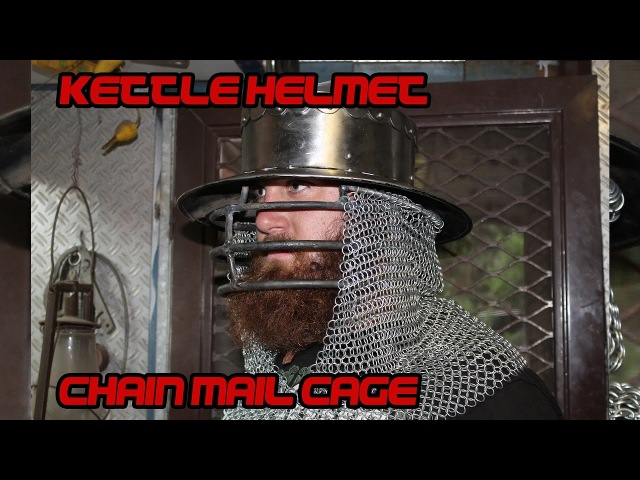 Making a Kettle Helm chainmail cage