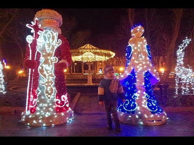 АРТ ОБЗОР 4Серия Новогодняя Одесса Праздничные Инсталляции Одесса встречает 2018год Trawel Odessa