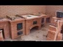 2 часть.Садововый комплекс на половину сделан.Обработка внутреннего радиуса кирпича на плиткорезе