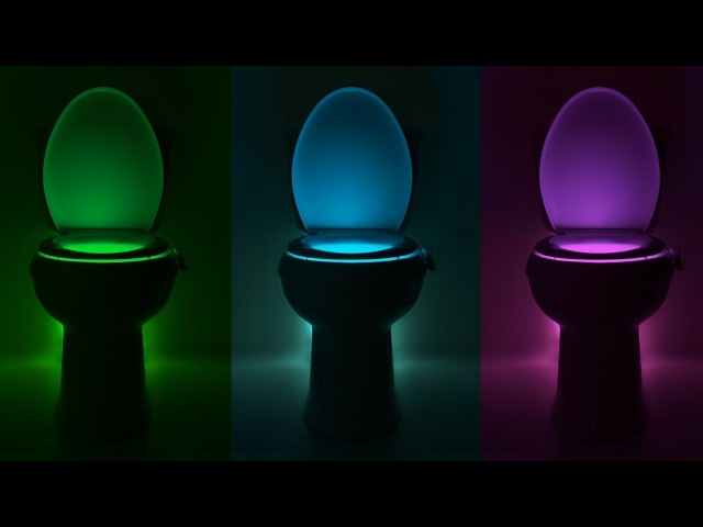 Обзор LED подсветки для унитаза Illumibowl