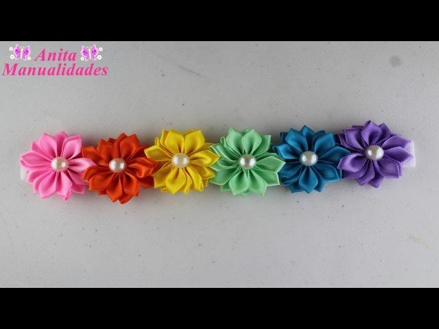 Tiara Primaveral con Flores Margaritas | Anita Manualidades