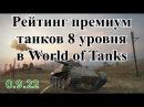 Рейтинг премиум танков 8 уровня игры World of Tanks патч 0.9.22