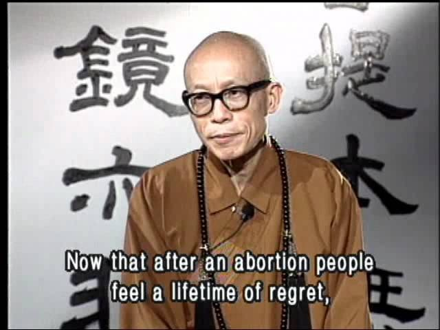 Master Sheng Yen (Buddhist monk) - Abortion