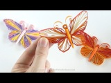 Papillon en QUILLING - Tuto avec Gabarit