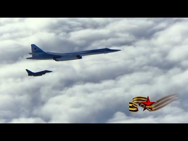 Ту-160М на боевой уходят от истребителей НАТО vk.com/kino_vks_vmf_ross