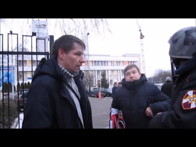 Отпор провокаторам на пикете против ГТРК в Калининграде 20 02 2018