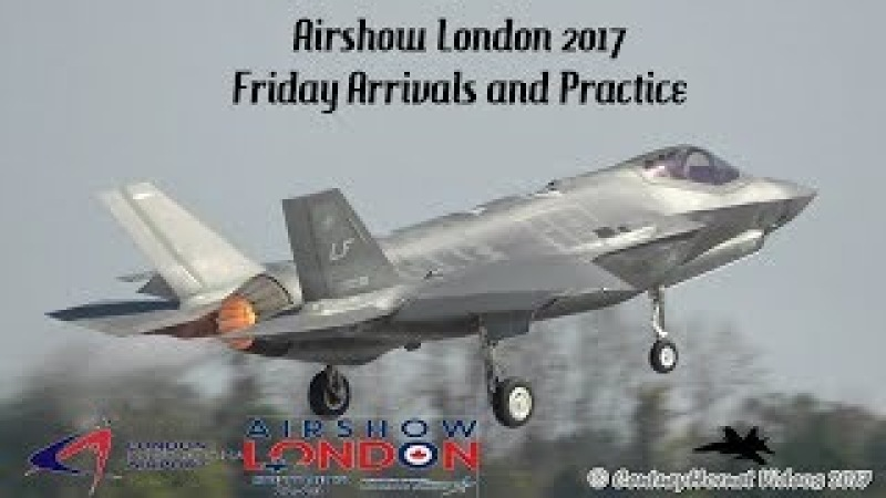 Airshow London 2017- Arrivals and Practice September 22, 2017