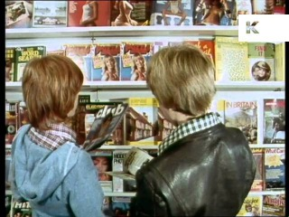 1970s UK School Boys Look at Lads Mags in Newsagent, Porn