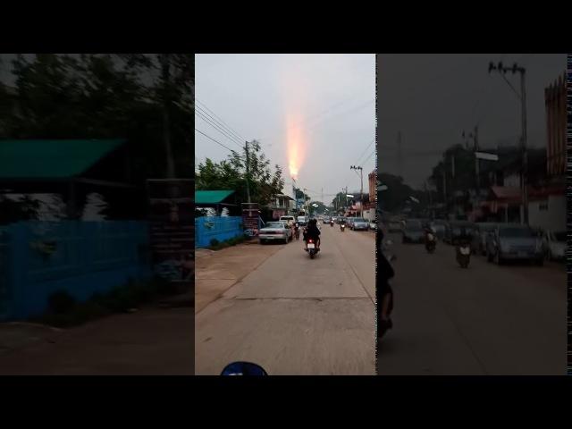 13.03.2018г. Необычное явление в небе на Таиландом