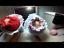 Корзинка тюльпан к 8 Марта крючком из трикотажной пряжи Нитка