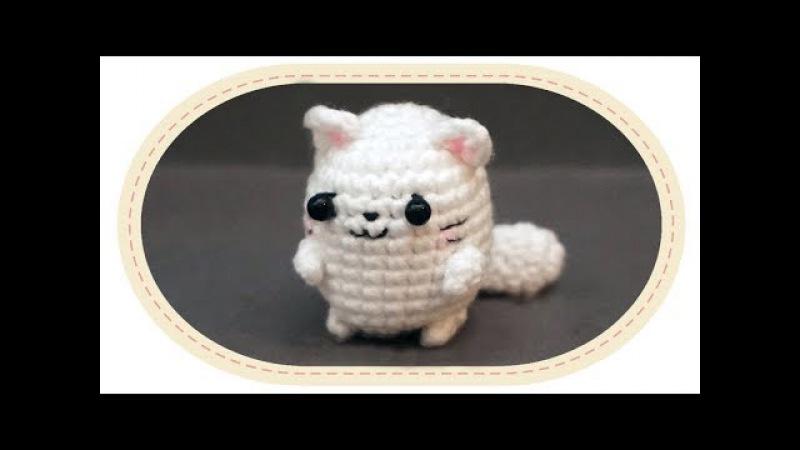 Вязаный кот амигуруми. Crochet cat amigurumi.