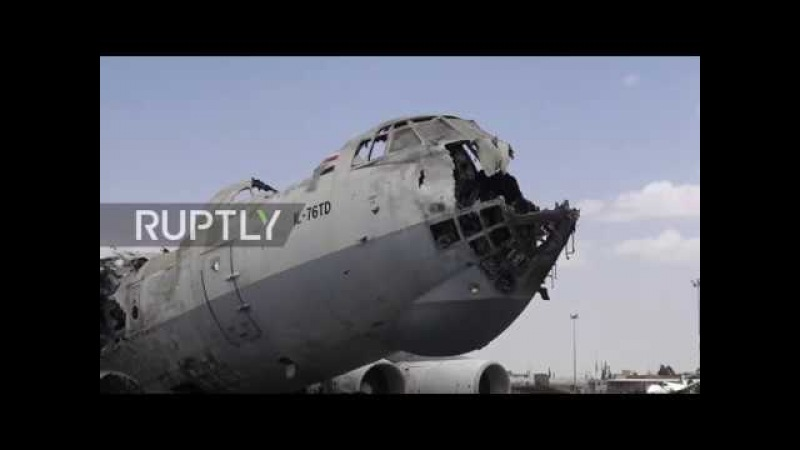 Yemen: War-shattered Sanaa International Airport lies in ruins