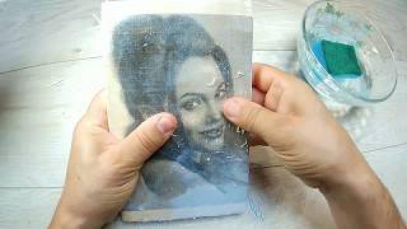 Перенос фото на деревянную доску ПРОСТО