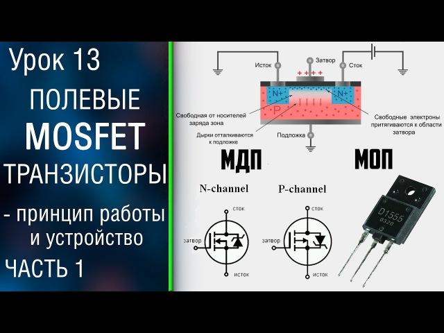 13 1 Полевые MOSFET транзисторы с изолированным затвором Как работает МОП транзистор