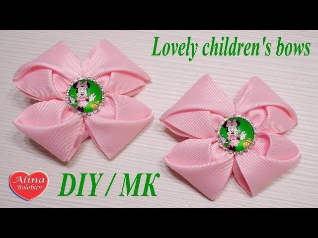 Милые детские банты из репса. Мастер класс Lovely childrens bows. Hand made. tutorial